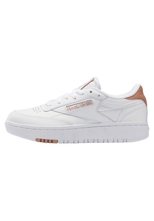 CLUB C DOUBLE - Sneakersy niskie - white/white/ruscly