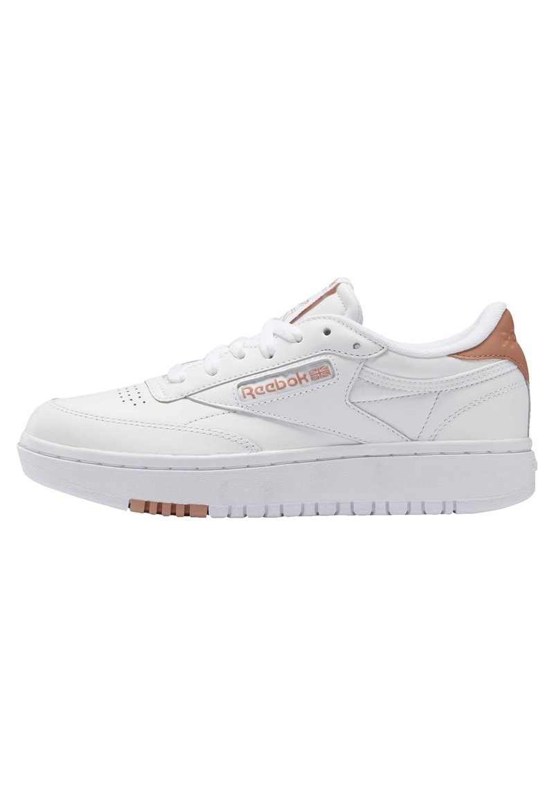 Reebok Classic - CLUB C DOUBLE - Zapatillas - white/white/ruscly