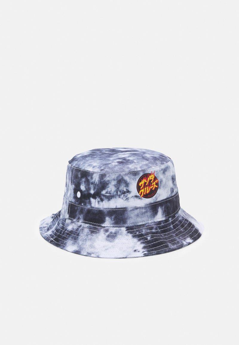 Santa Cruz - FLAMING JAPANESE DOT BUCKET HAT UNISEX - Hat - black/white