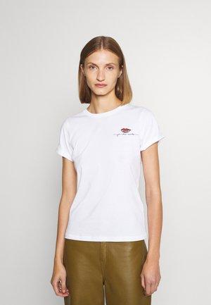 THE SLIM TEE - T-shirt z nadrukiem - white