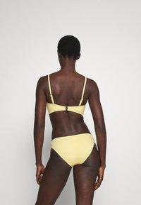 Seafolly - SPLASH DOT TWIST TIE FRONT BANDEAU - Bikini top - lemon butter - 2