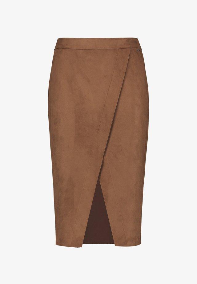 Wrap skirt - truffle brown