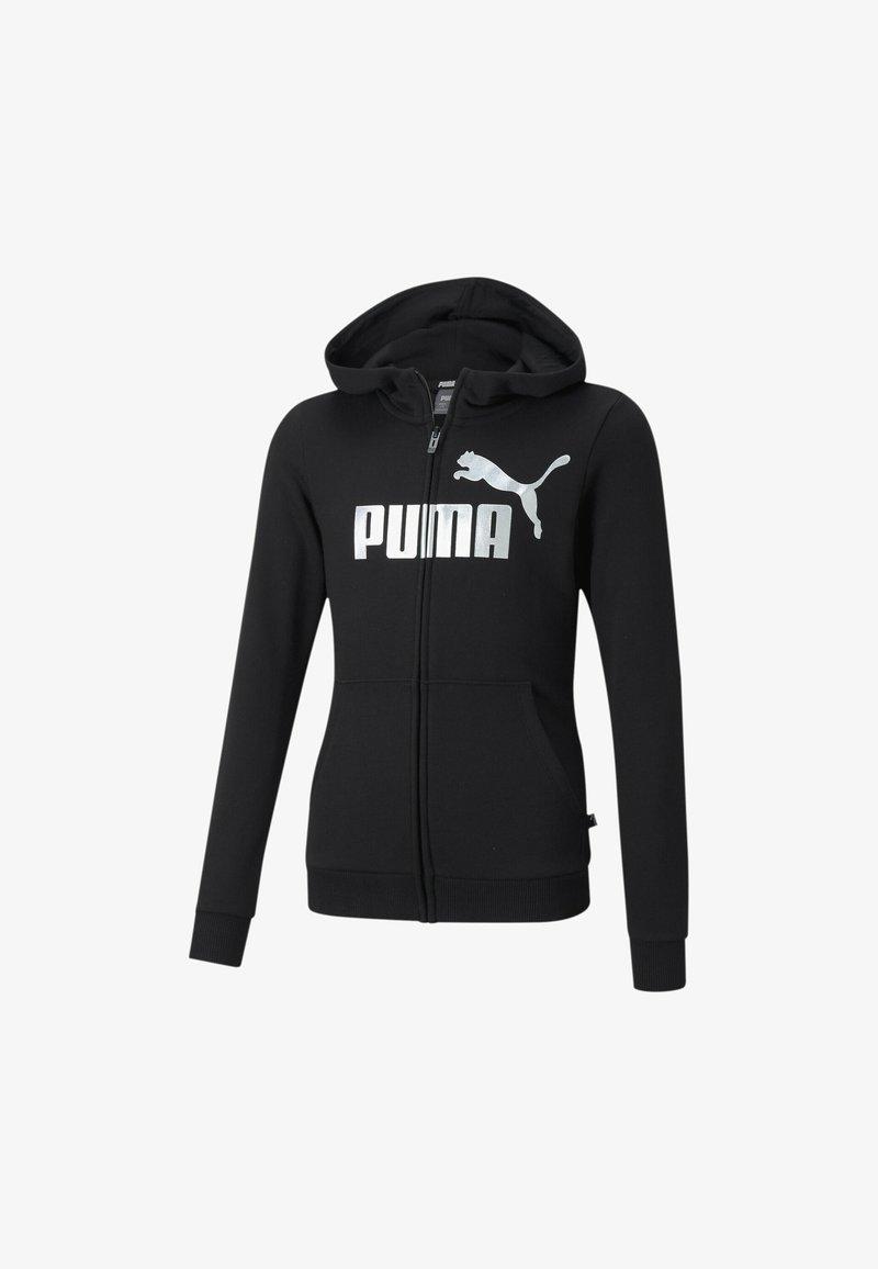Puma - ESSENTIALS LOGO FULL YOUTH  PIGE - Vetoketjullinen college - black