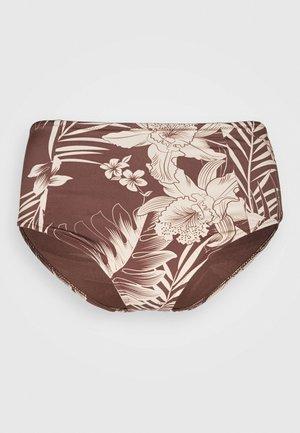 MAHINA HI WAIST PANT - Spodní díl bikin - cocoa