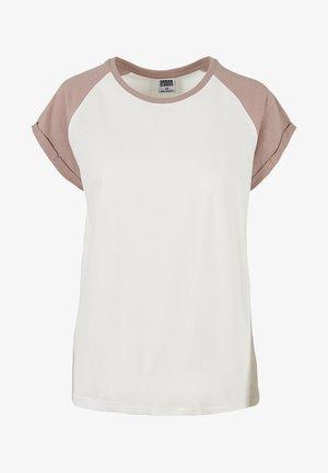 Print T-shirt - whitesand/duskrose