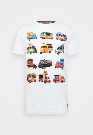 FOODX - Print T-shirt - optic white