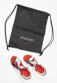 Sportmax - ARDEA - Platform sandals - argento - 7