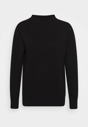 FUNNEL NECK - Jumper - black
