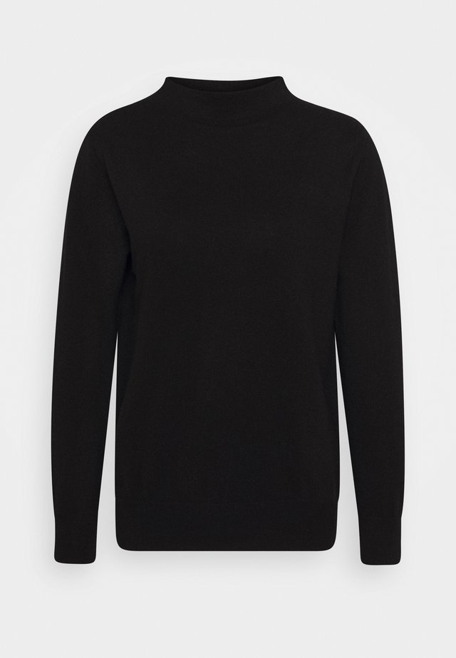 FUNNEL NECK - Pullover - black
