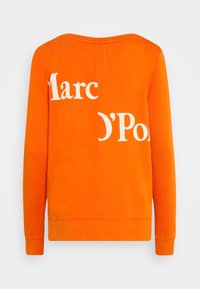 Marc O'Polo - LONG SLEEVE ROUND NECK PRINT AT BACK - Sweatshirt - pumpkin orange - 1