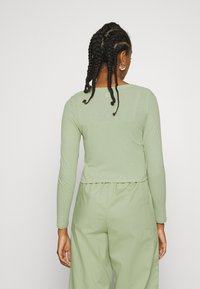 Monki - OVERA - Cardigan - green dusty light - 2