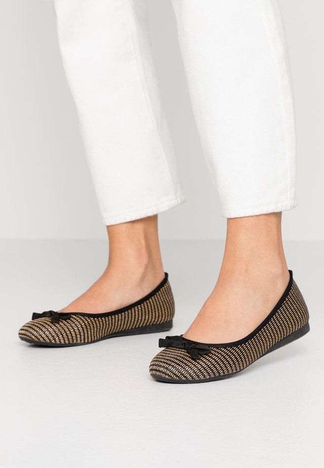 Ballet pumps - noir/beige