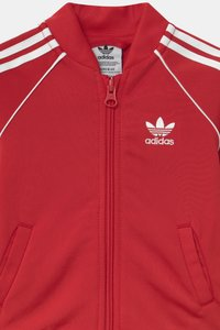 adidas Originals - SLICE TREFOIL CREW ADICOLOR ORIGINALS PULLOVER - Training jacket - scarlet/white - 3