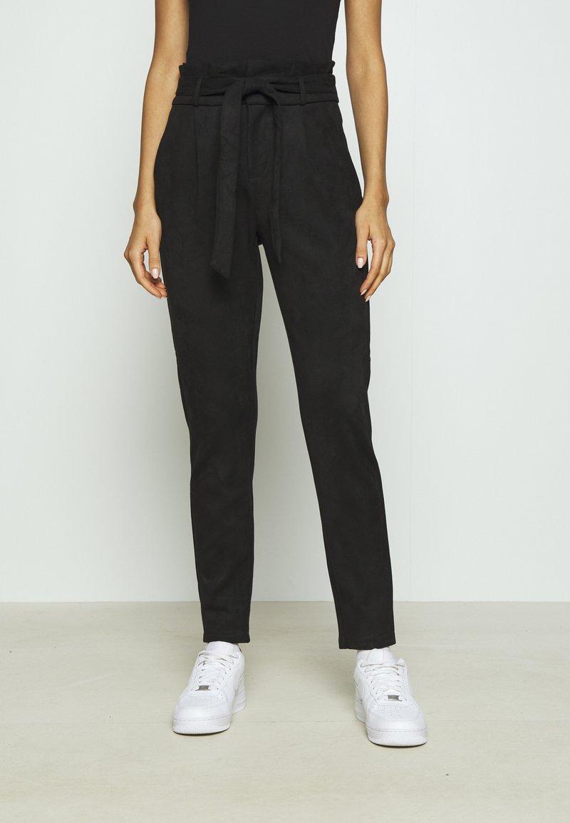 Vero Moda - VMEVA PANT - Trousers - black