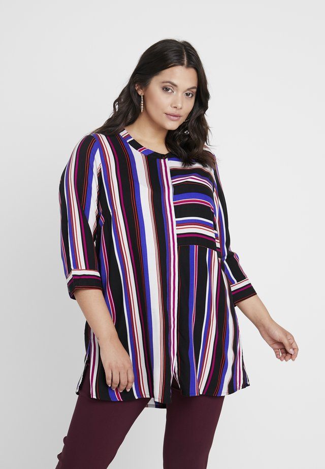 CUT ABOUT STRIPE  - Tunic - black/multi