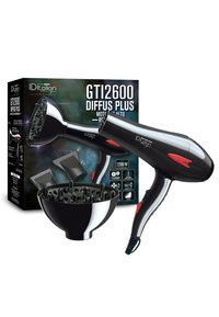 Italian Design - ELECTRICAL ITEMS GTI 2600  DRYER WITH DIFFUSOR PLUS - Hair styling accessory - black - 3