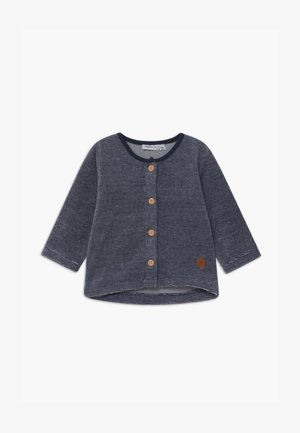 NBMNAVEL BABY - veste en sweat zippée - dark blue/white