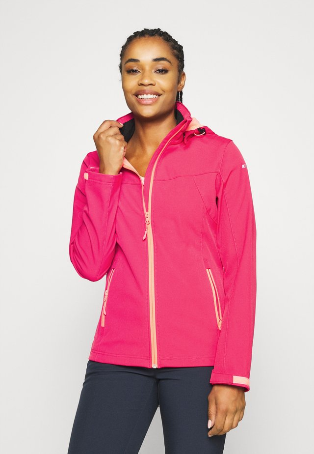BOISE - Soft shell jacket - coral red