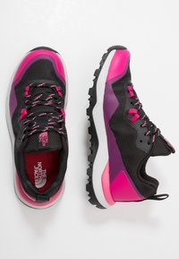 The North Face - W ACTIVIST FUTURELIGHT - Hiking shoes - black/pink - 1