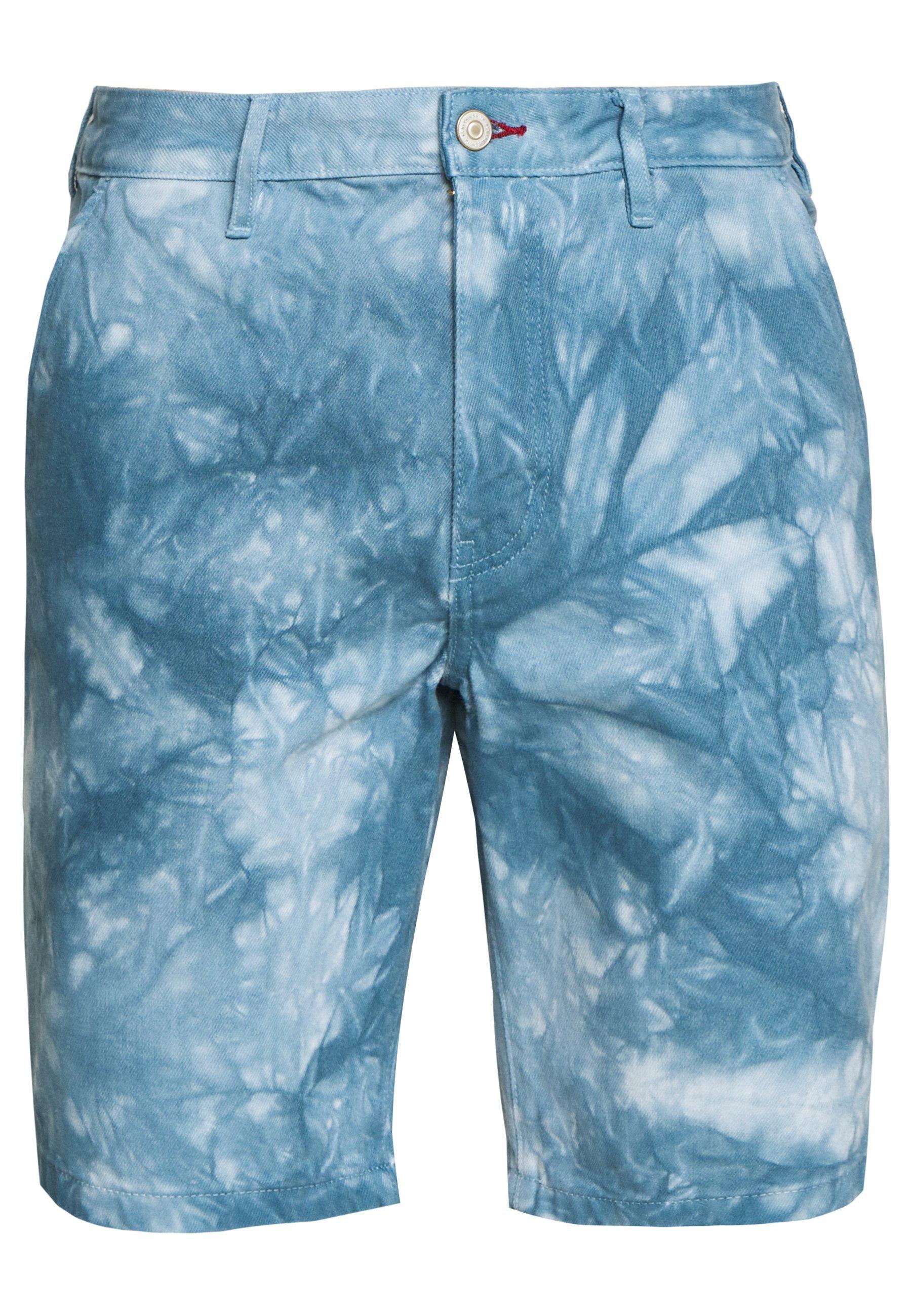 Ps Paul Smith Mens Standard Fit - Jeansshort Light Blue Denim