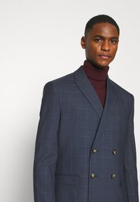 Isaac Dewhirst - DOUBLE BREASTED WINDOWPANE CHECK SUIT - Completo - dark blue