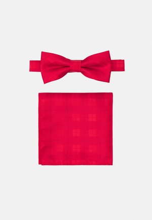 ONSTHOMAS PATTERN BOWTIE SET - Pocket square - pompeian red