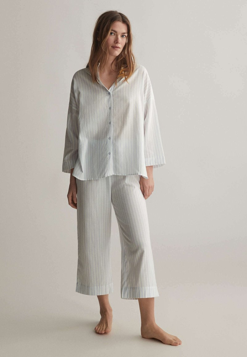 OYSHO - Pyjama top - blue