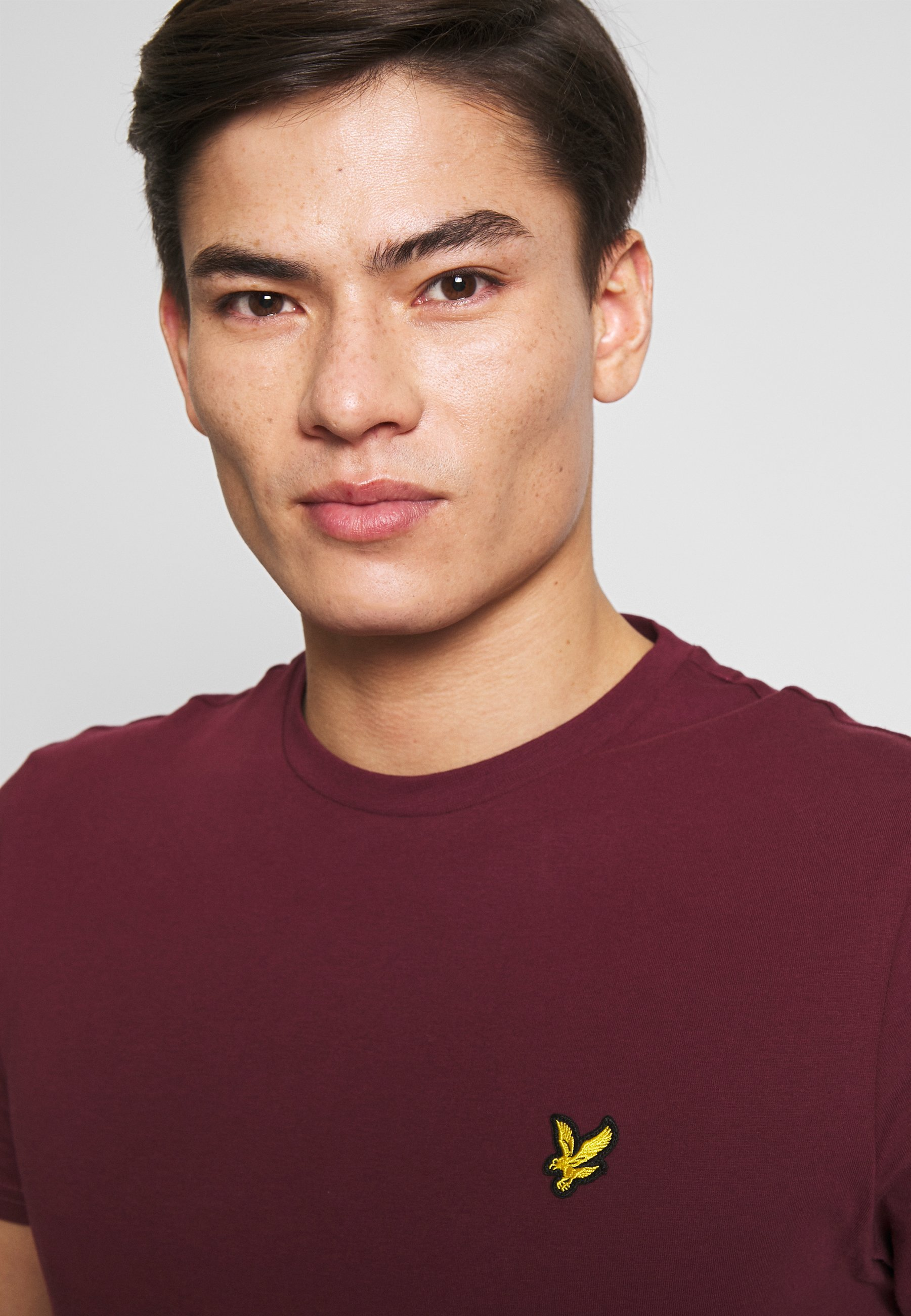 Lyle & Scott Plain - T-shirts Merlot/vinrød