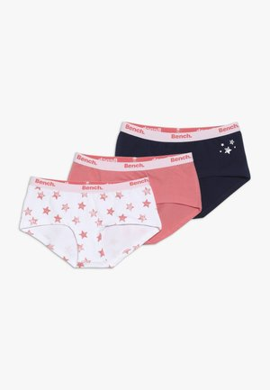 BENCH PANTY STERNE - Pants - coral/dark blue/white