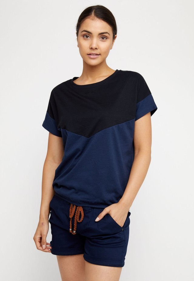 MINA - Print T-shirt - black/navy