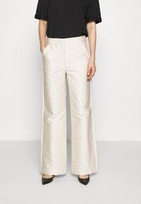 DESIGNERS REMIX - HAILEY FLARE - Trousers - cream - 0