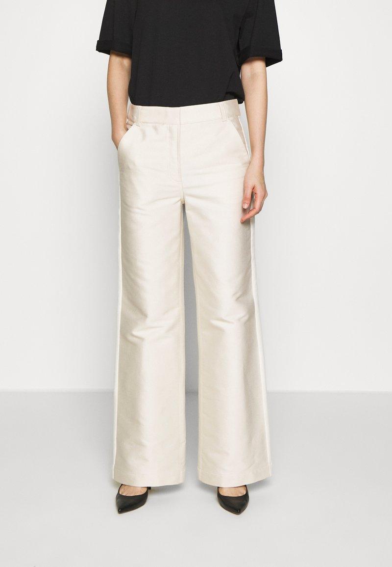 DESIGNERS REMIX - HAILEY FLARE - Trousers - cream