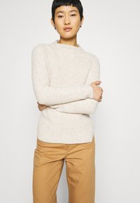 Banana Republic - HIGH NECK  - Jumper - light oatmeal heather - 3