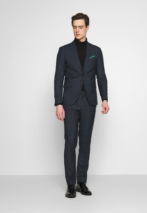 CHECKED SUIT - Suit - navy