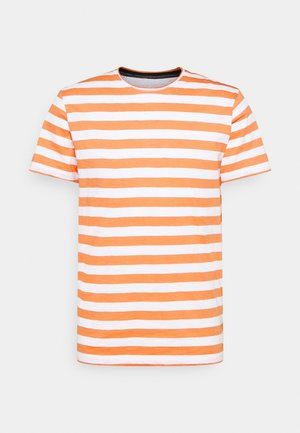 JORTONS STRIPE TEE CREW NECK - T-shirt con stampa - shell coral