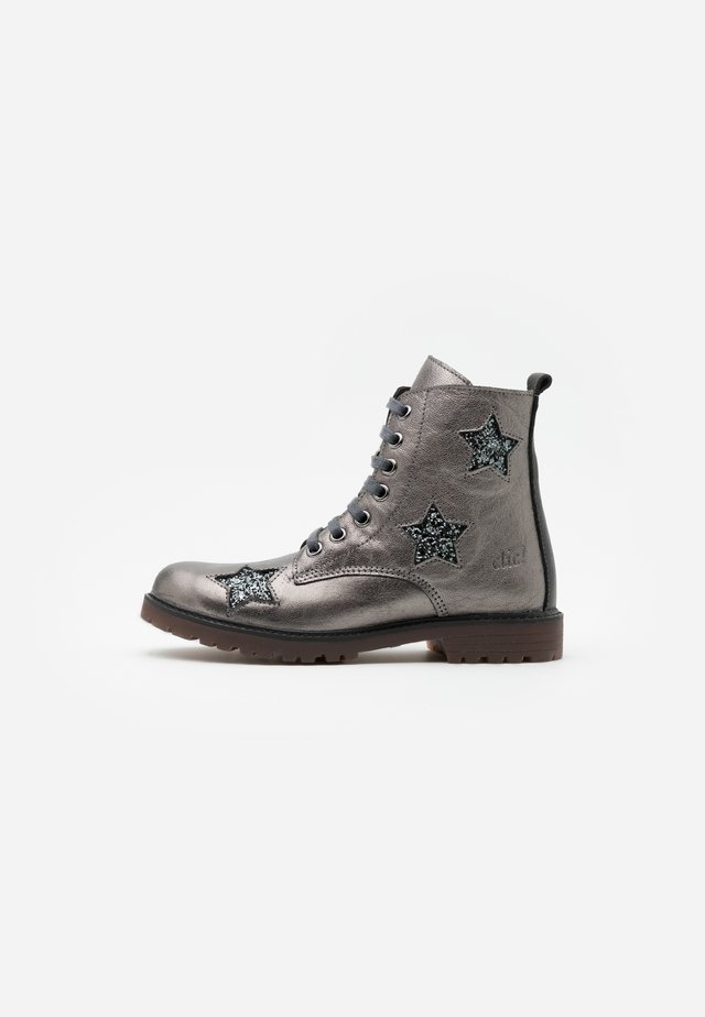 Bottines à lacets - silver