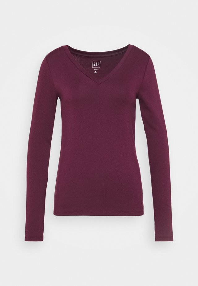 Long sleeved top - secret plum