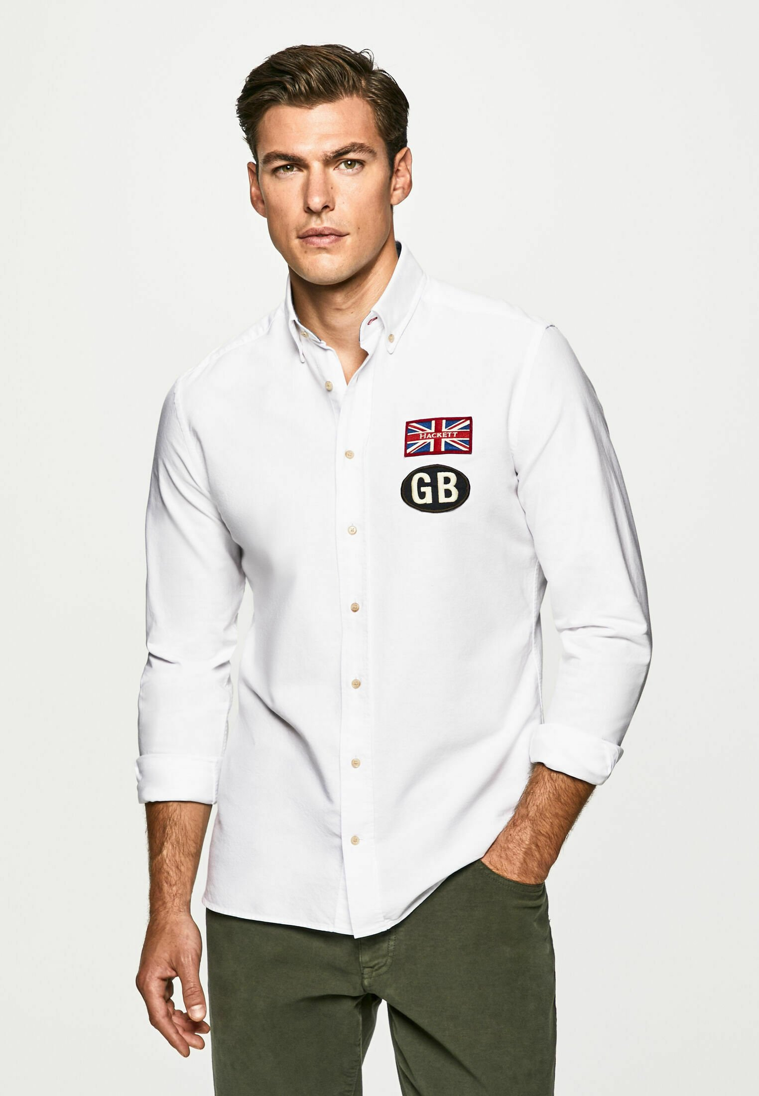 Homme GB BADGE OXFORD - Chemise