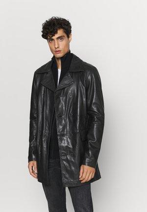 JESPER - Leather jacket - black