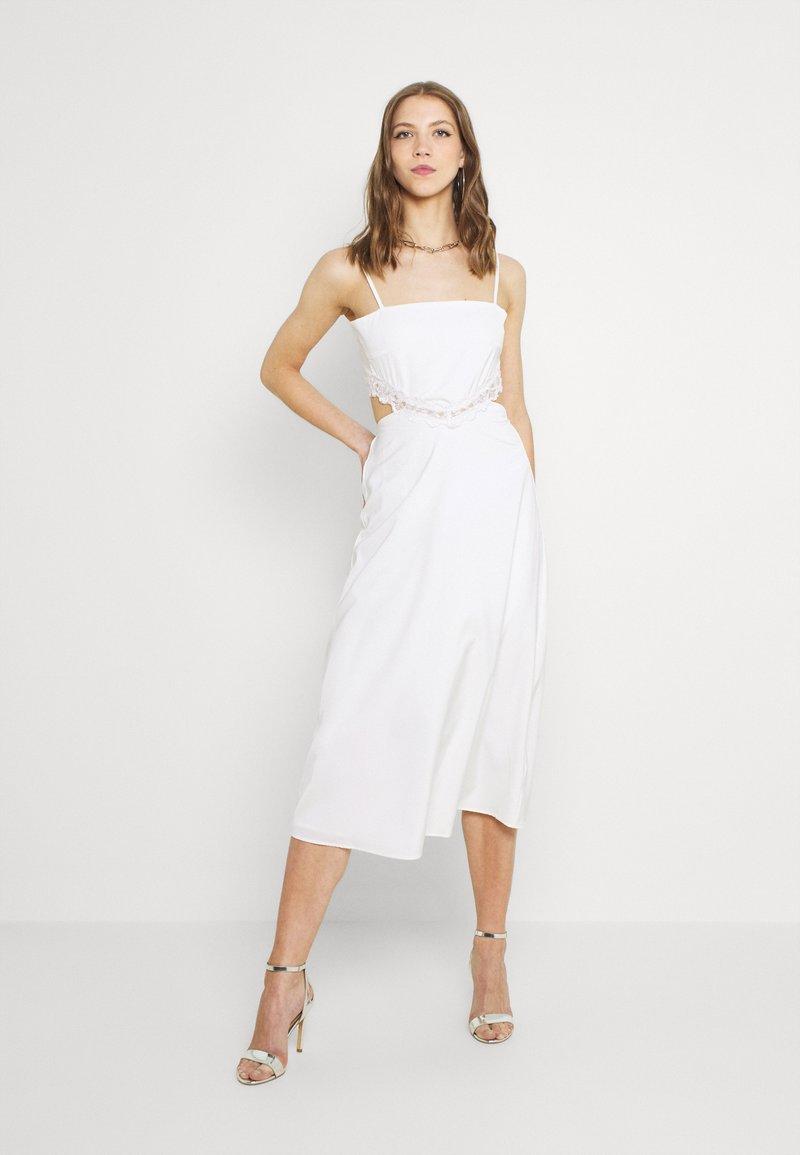 Fashion Union - PALMA MIDI DRESS - Day dress - white