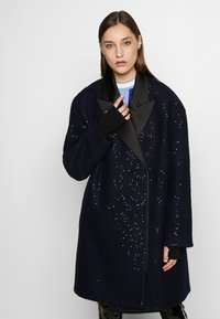 KARL LAGERFELD - SEQUIN COAT  - Classic coat - navy/black - 0