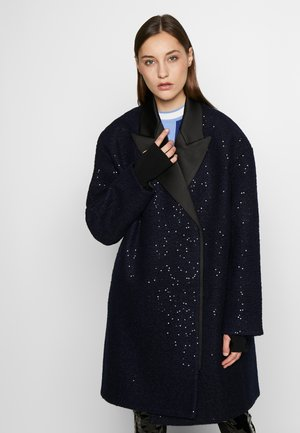 SEQUIN COAT  - Classic coat - navy/black
