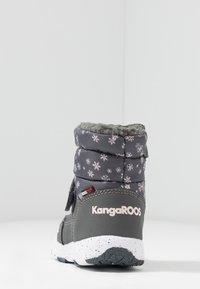 KangaROOS - SNOWRUSH - Vinterstövlar - steel grey/frost pink - 4