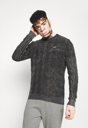 Stickad tröja - washed black