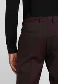 HUGO - HESTEN - Suit trousers - dark red - 5