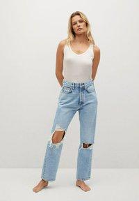 Mango - SELINA - Straight leg jeans - middenblauw - 1