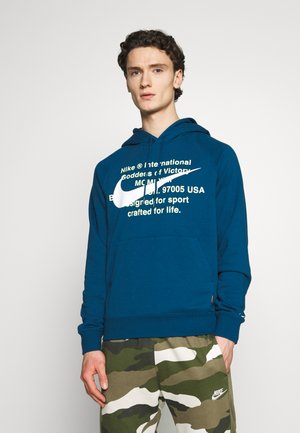 HOODIE - Bluza z kapturem - blue force/(white)