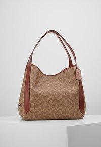 Coach - COATED SIGNATURE HADLEY  - Handbag - tan rust - 0