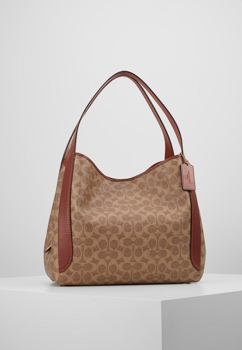 Coach - COATED SIGNATURE HADLEY  - Handbag - tan rust