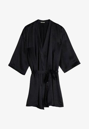 KIMONO AUS SEIDE - Dressing gown - nero